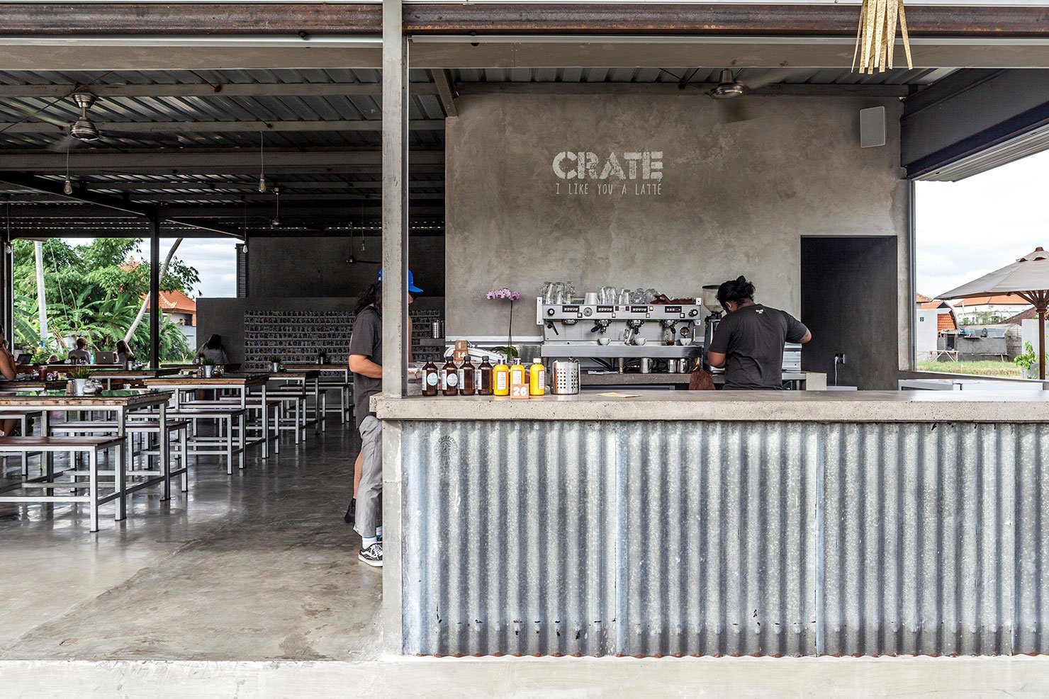 crate cafe Bali Interiors