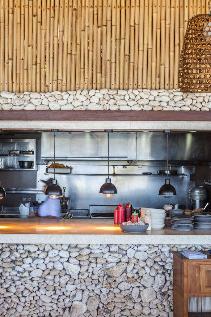 kitchen at sundays' beach club by Bali Interiors