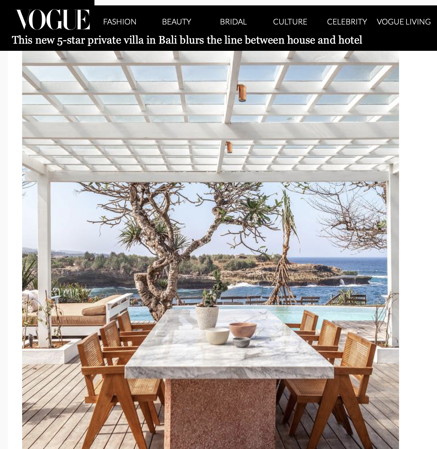 Vogue Living- Bali Interiors