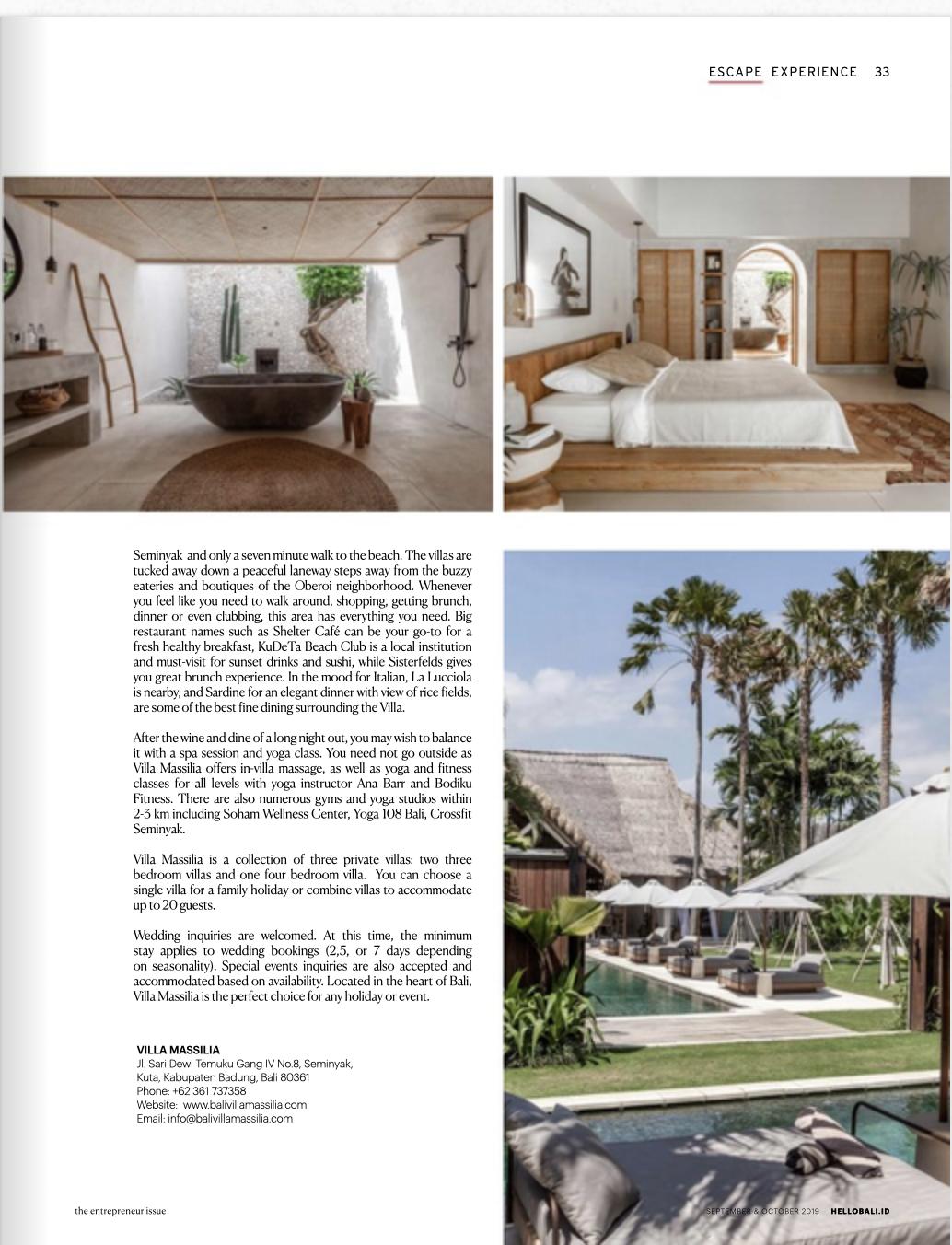 Hello Bali- Villa Massilia- Bali Interiors