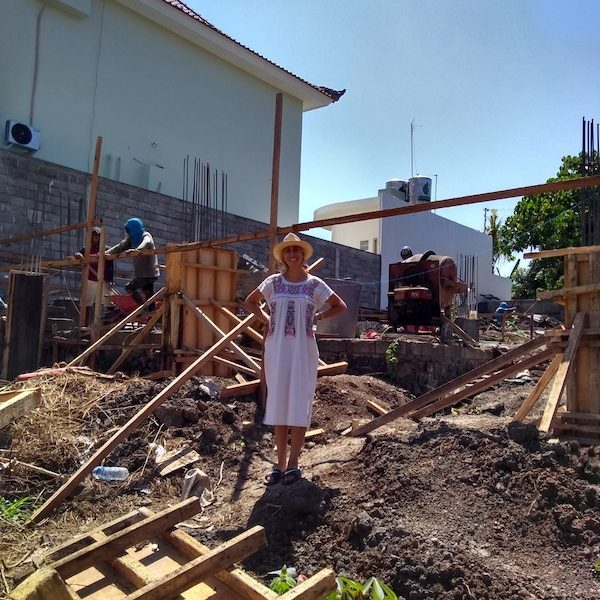 Bali Interiors Build Diary 12 - Sheila on site