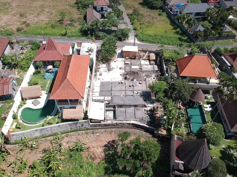 Bali Interiors Build Diary 14 Our villa footprint drone