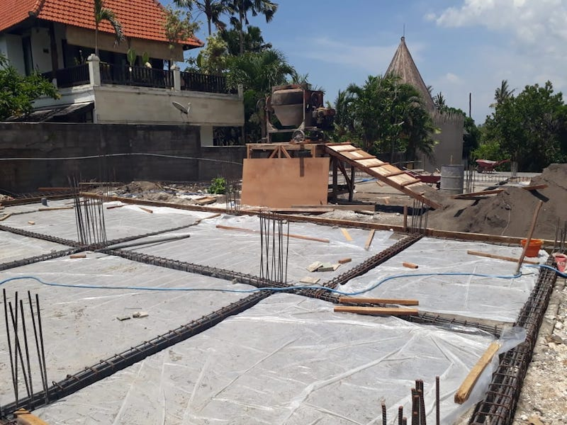 Bali Interiors Build Diary 14 waterproofing