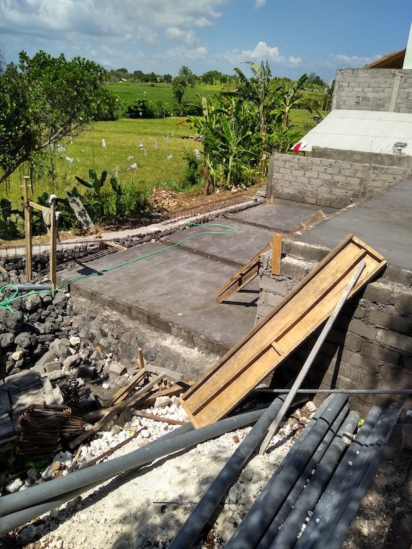 Bali Interiors Build diary 14 swimming pool