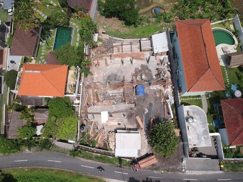 Bali Interiors Build Diary 16 drone