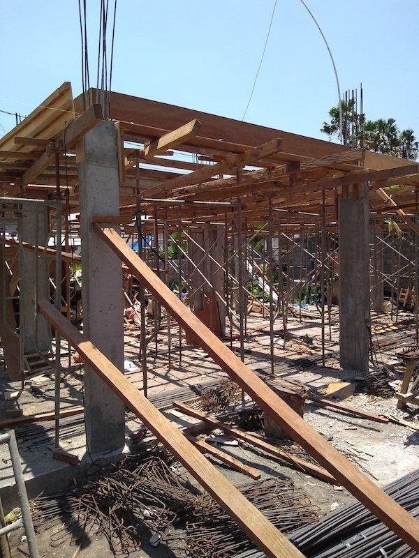 Bali Interiors Build Diary 17 scaffolding