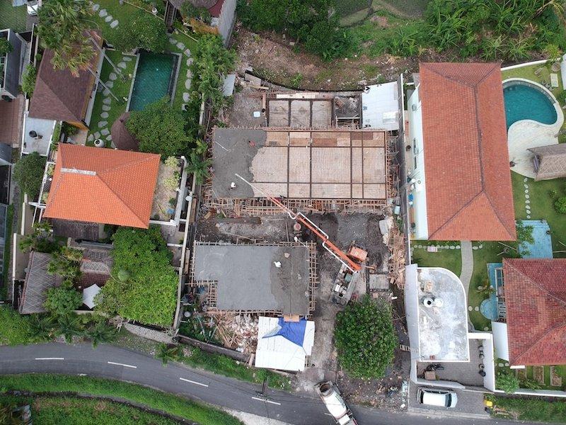 Bali Interiors Build Diary 18 drone