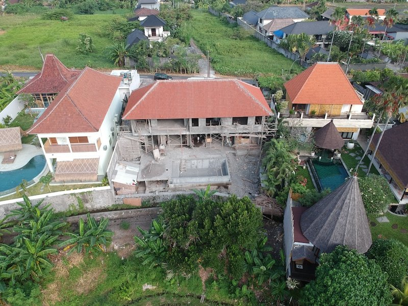 Bali Interiors Build Diary 22 drone