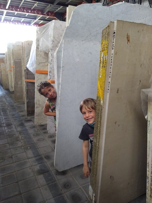 Bali Interiors Build Diary 31 - shopping for marble