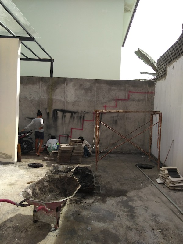 Bali Interiors Build diary 32 courtyard