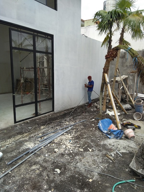 Bali Interiors Build Diary 35 front yard