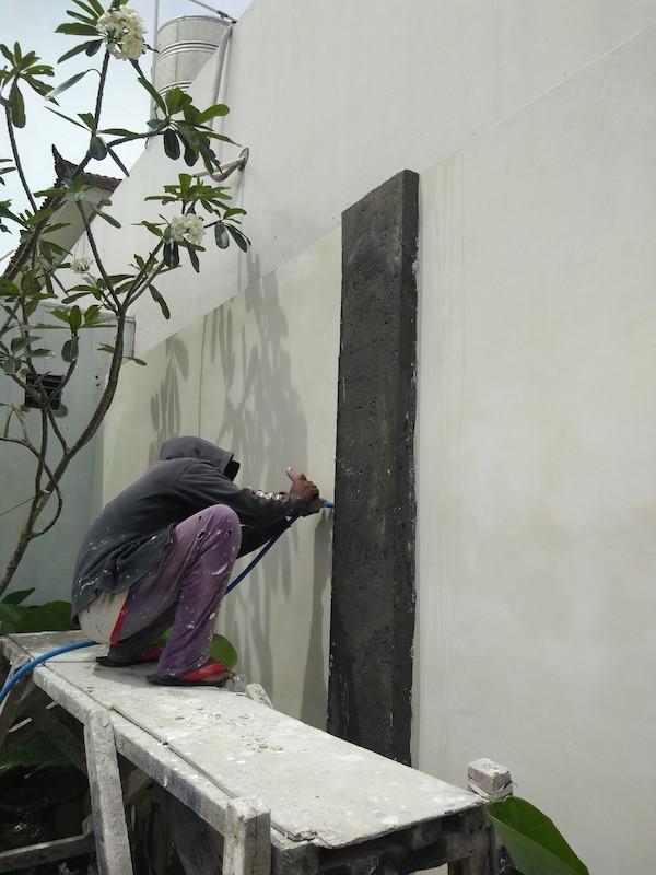 Bali Interiors Build Diary 37 painting