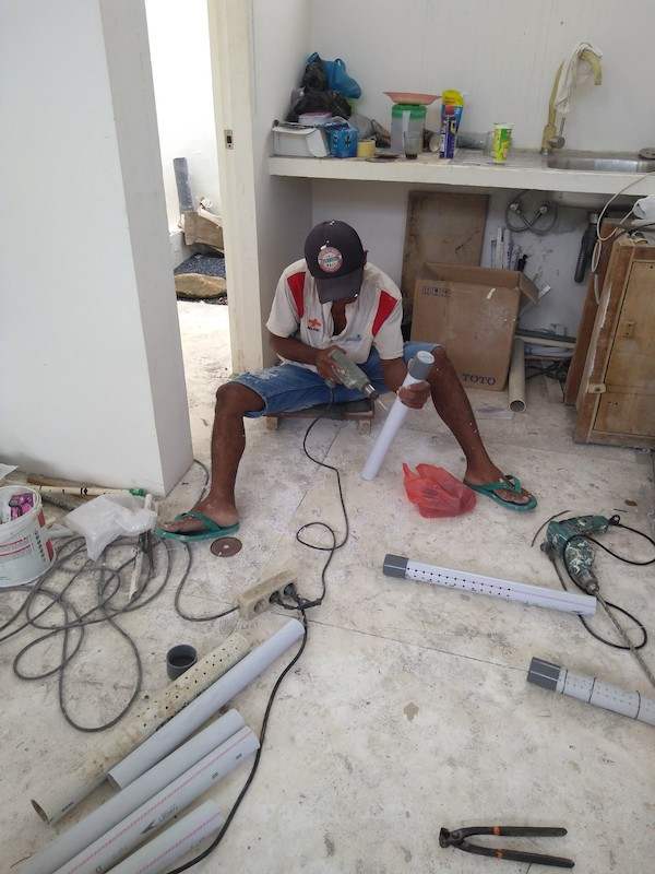 Bali Interiors Build Diary 38 pipes