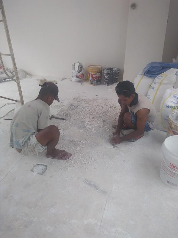 Bali Interiors Build Diary 38 fixing the floor