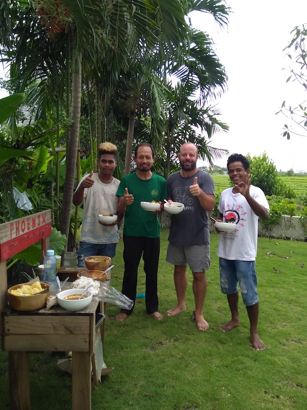 Bali Interiors Build Diary 38 Lunch with the team