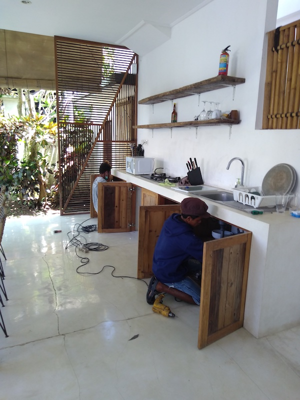 Bali Interiors Build Diary 40 stripping our our cupboards