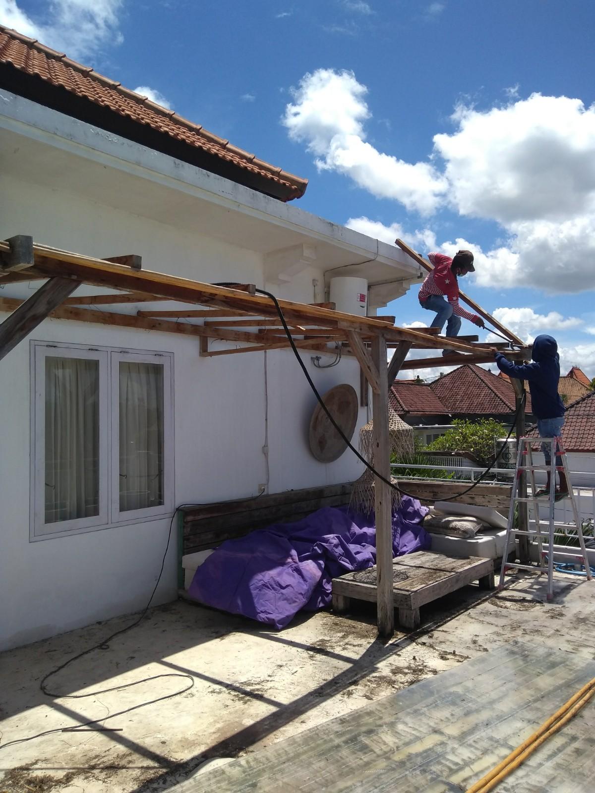 Bali Interiors Build Diary 40 dismantling the gazebo