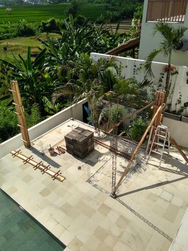 Bali Interiors Build Diary 43 gazebo columns
