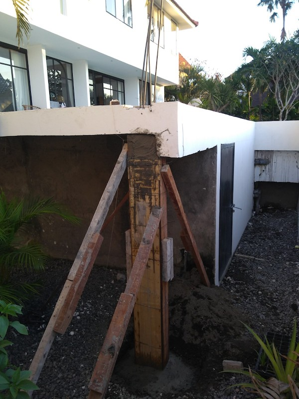 Bali Interiors Build Diary 43 gazebo foundations