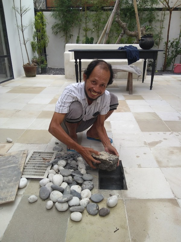 Bali Interiors Build Diary 43 fixing pipes