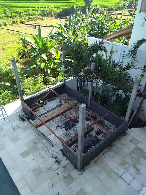 Bali Interiors Build Diary 43 gazebo