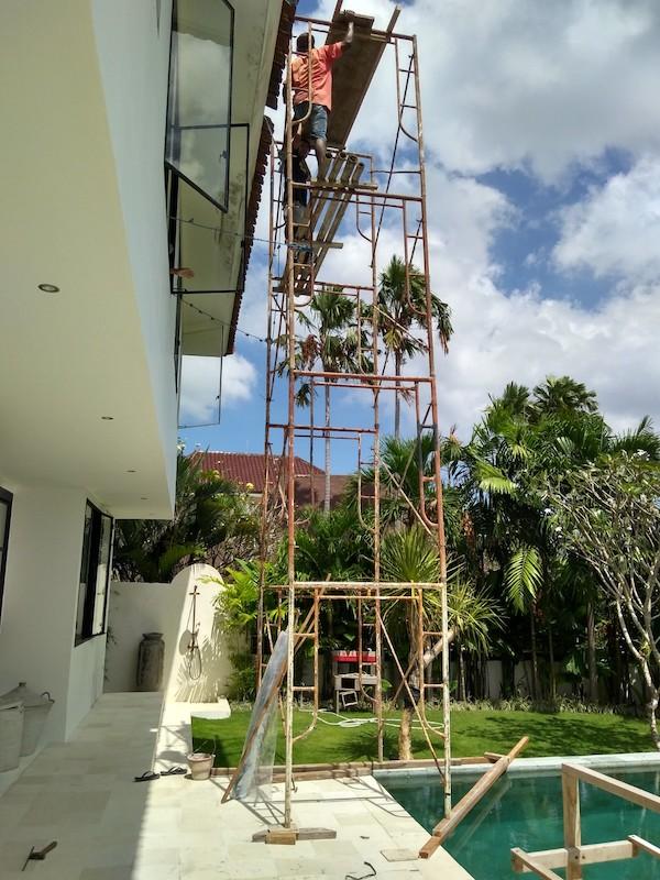 Bali Interiors Build Diary 45 scaffolding
