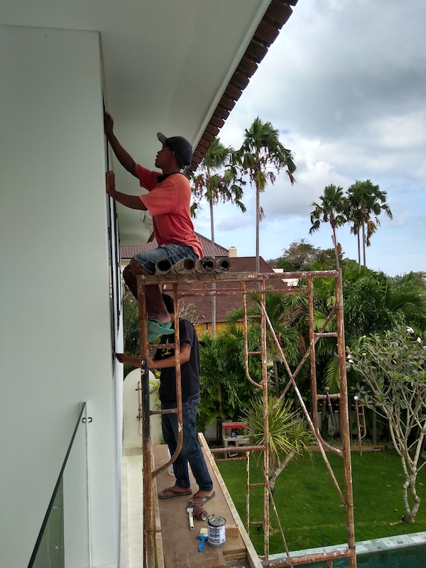 Bali Interiors Build Diary 45 painting
